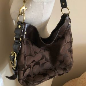 Chocolate color Coach bag with box